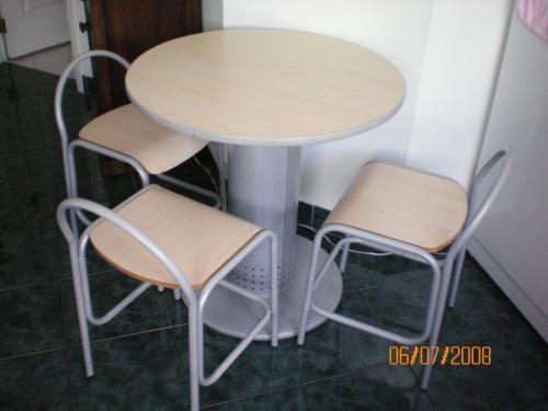 Vendo juego de mesas sillas y barra para cafereria for Mesas y sillas para restaurante