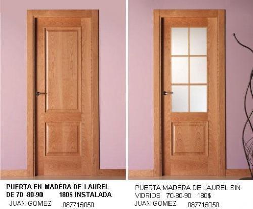 puertas para ba o en madera