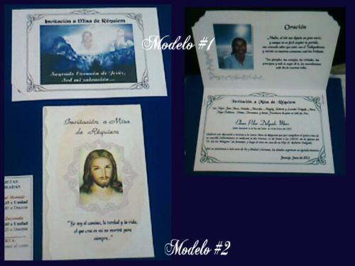 Tarjetas de invitación a misa de difuntos para imprimir - Imagui