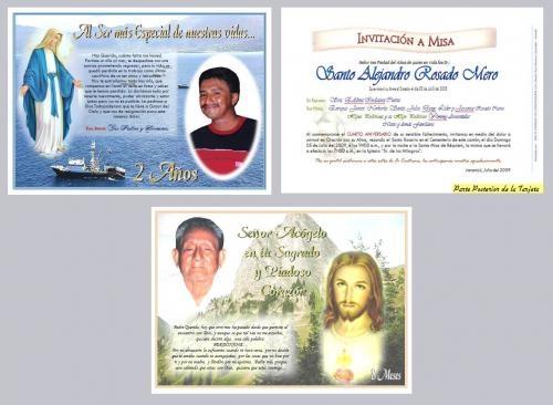 Recuerdos para misas de difuntos - Imagui