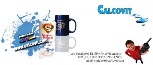 Publicidad impresa en ceramica, vidrio, baldos quito ecuador
