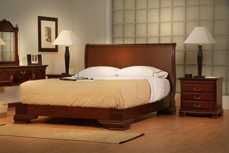 Muebles en madera camas modernas for Modelos de dormitorios modernos matrimoniales