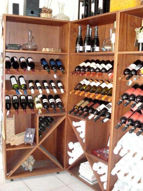 Muebles de vinos soporte para botellas de madera esigo - Estanterias para vino ...