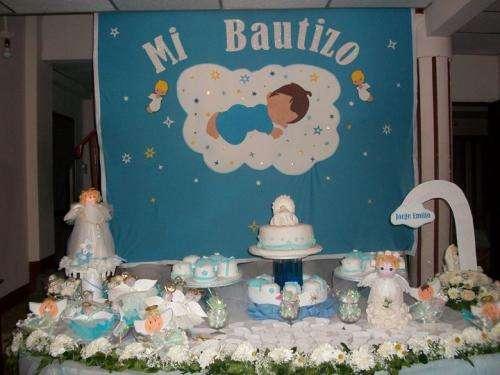 Bautismo decoracion mesa for Arreglos de mesa para bautizo
