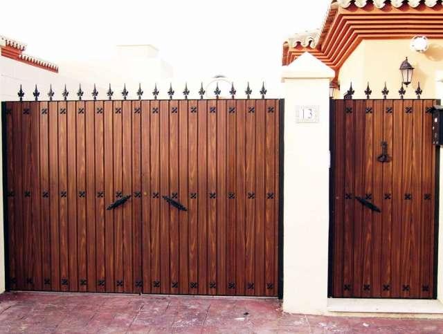 Puertas pasamanos hierro forjado acero inoxidable - Puertas hierro forjado ...