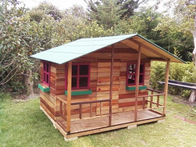 Casita madera imagui for Casitas de jardin para ninos