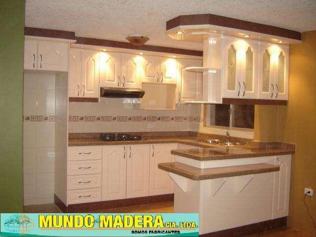 Fotos de modulares de cocina puertas closest cortinas y - Cocinas para pisos pequenos ...