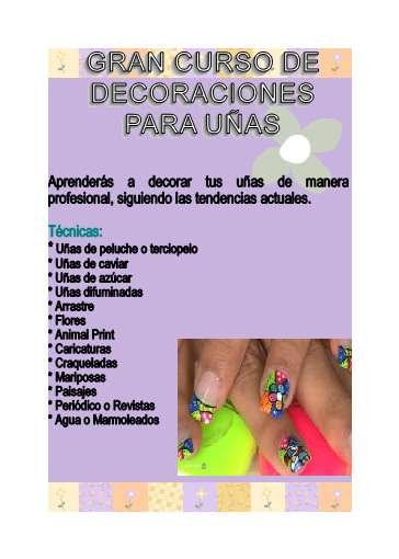 curso taller de decoracion de uas