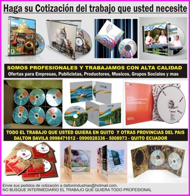 Impresiones de discos con la barnizada gratis en Quito - Libros y ...
