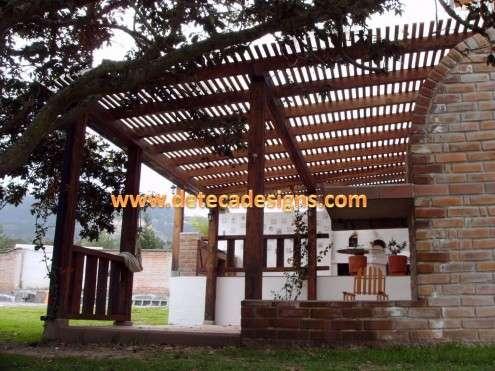 29 new pergolas de madera y policarbonato - Cubiertas para pergolas de madera ...