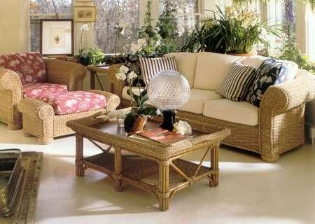 Muebles de mimbre usados con cojines en Quito - Muebles ...