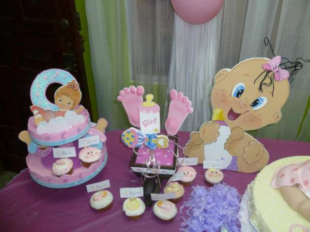Fiestas baby shower decoraci n imagui for Decoracion para pared de baby shower