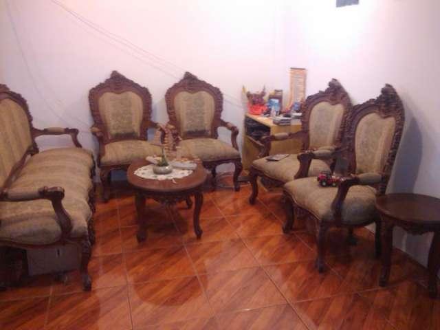 juego de muebles tallados sillones grande