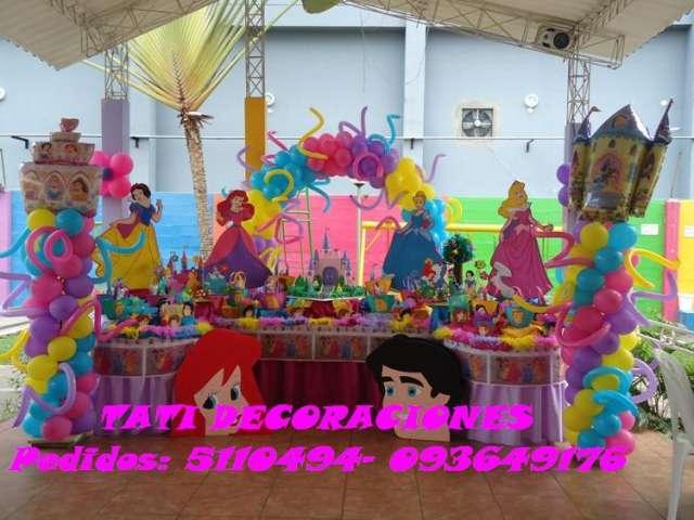 Decoracion de fiestas infantiles las princesas en decoraci for Decoracion de princesas