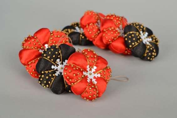 Adornos De Navidad En Tela Flores Tela Roja Blanca Ideas With - Adornos-de-navidad-con-tela