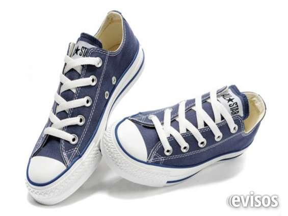 zapatos converse azul electrico