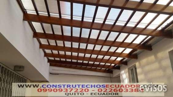 policarbonato para pergolas patios techos domos - Techos Para Pergolas