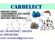 CARBONES PARA MOTORES, GENERADORES, HERRAMIENTAS ELECTRICAS, ETC. - ESCOBILLAS - ECUADOR