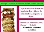 CURSO DE SÁNDUCHES, PIQUEOS & DIPS