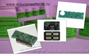 Chip clp300 recarga reset impresoras toner
