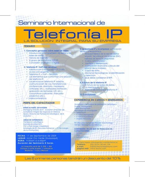Seminario internacional de telefonía ip en ecuador