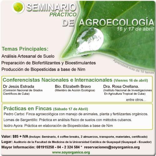 Seminario internacional de agroecología teórico-práctico