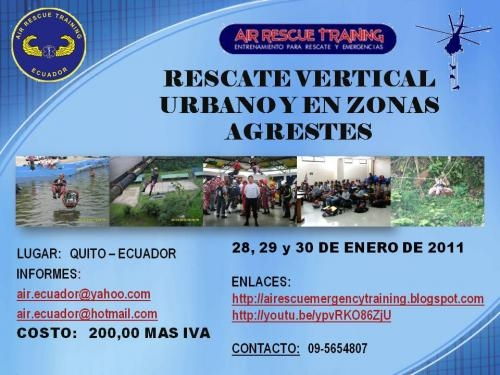Air rescue training capacitacion 2011