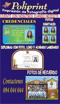 Credenciales de identificacion estudiantil o empresarial