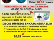 Impresión de Cd, copias  y gratis 1.500 tarjetas de presentación