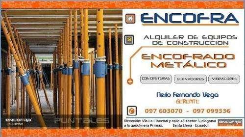Alquiler de equipos de construcción - encofrado metálico para losas