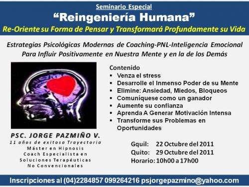 Reingenieria humana seminario-terapias