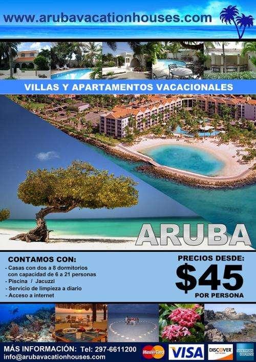 Vacaciones en aruba / casas y apartamentos