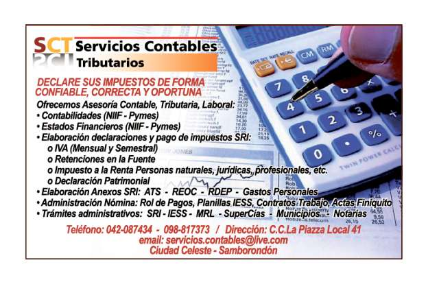 Servicios contables tributarios samborondon