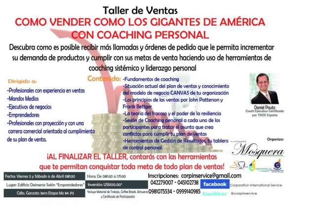 Taller de ventas: como vender como los gigantes de america con coaching personal