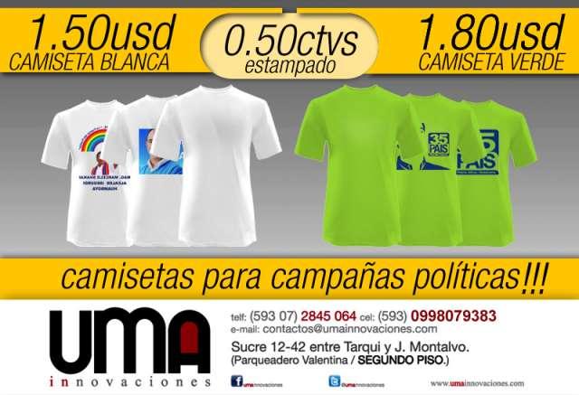 c6dd95e28ae19 Camisetas para campañas politicas en Cuenca - Ropa y calzado
