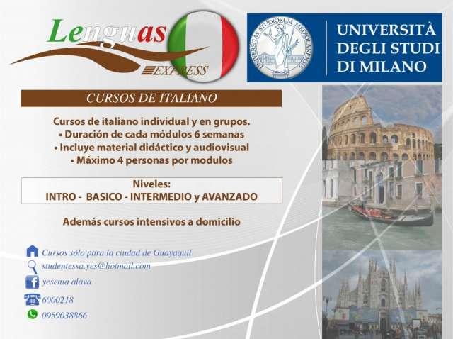 Curso de italiano en gquil