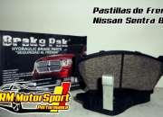Pastillas de Frenos para Nissan Sentra B13 Compuesto Semi Metalico - Realizamos envios a P