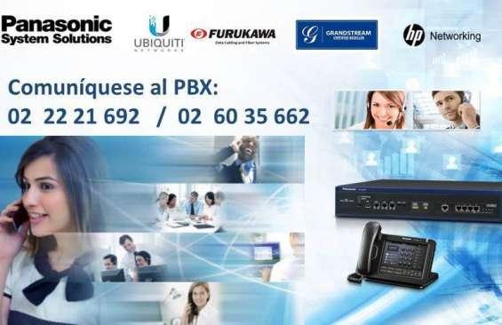 Servicio técnico especializado de centrales telefónicas panasonic, samsung, alcatel.
