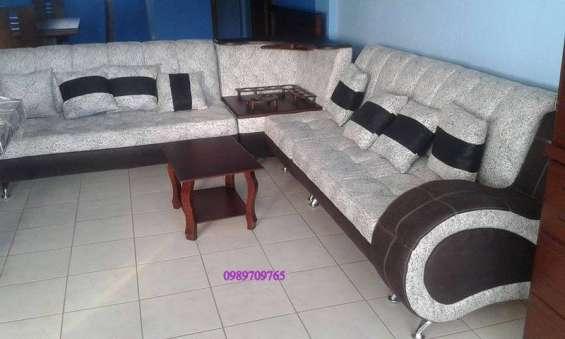 Juego De Sala En L Nuevo En Quito Muebles 266564
