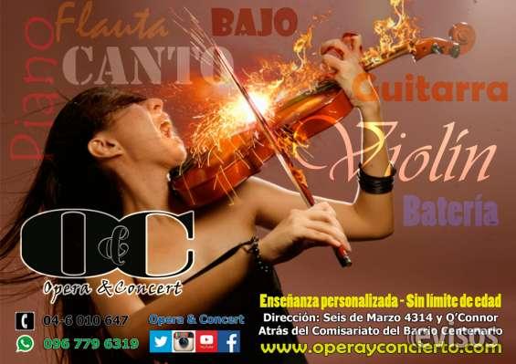 Clases de musica, piano, canto, guitarra, bateria, violin.