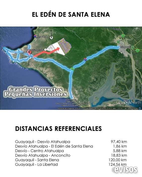 Vendo terrenos en santa elena, 1000 m2, excelente plusvalía, sector en desarrollo turístic