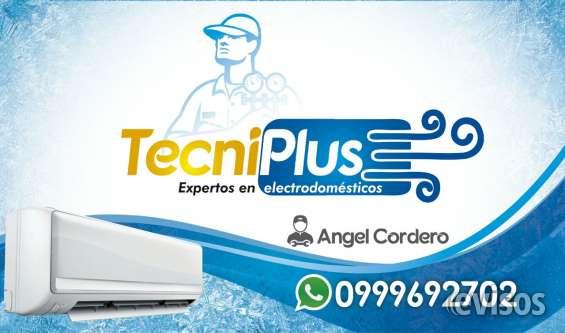 Mantenimiento de aires acondicionado y reparación de lavadoras, refrigeradoras.
