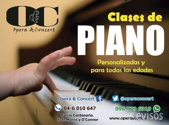 Clases personalizadas de canto, piano, guitarra, batería, violín.
