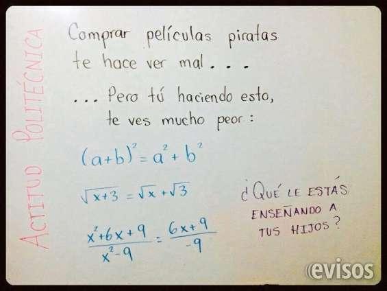 Clases a domicilio de matematicas - física y química!!!