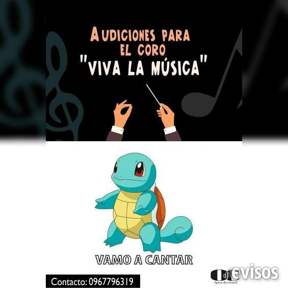Audiciones coro, canto. barrio centenario. opera and concert. 09867796319