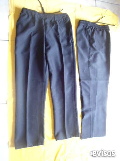 Pantalones color negro para saloneros y cocineros