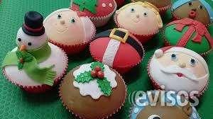 Cupcakes navideños y decoración