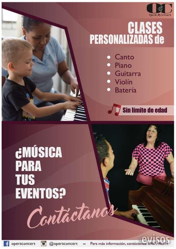 Clases de música, piano, canto, guitarra, batería, violín. todos los dias iniciamos