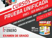 CURSOS PRUEBA UNIFICADA -ENES - INEVAL - SER BACHILLER 2017