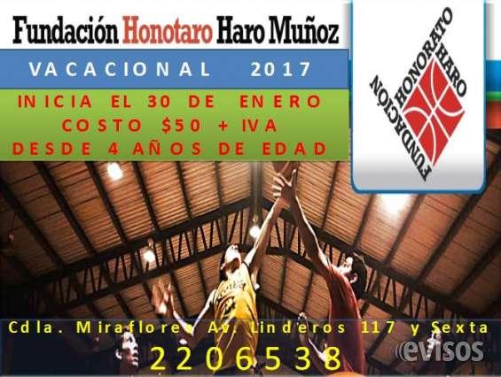 Fundacion honorato haro vacaional de basquet guayaquil